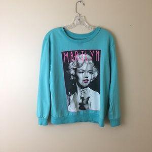 Red Carpet Noir Marilyn Monroe sweatshirt blue